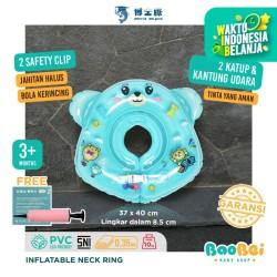 Pelampung Leher Bayi Doctor Dolphin / Baby Neck Ring / Ban Renang Bayi - Biru Muda