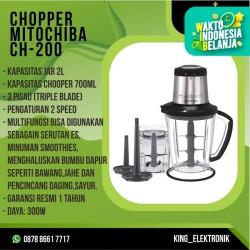 Mitochiba CH 200 Food Chopper Blender Bumbu & Daging / MITOCHIBA CH200 - TANPA BUBBLE