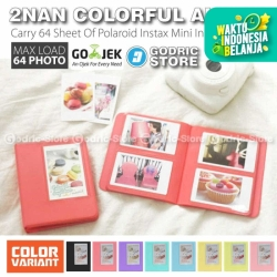 Album 2Nan Colorful 64 Foto Fujifim Instax Mini Polaroid 8/9/90/SP etc