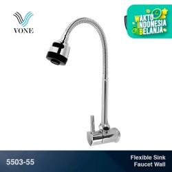 VONE 5503-55 Kran Keran Angsa Fleksibel Sink Cuci Piring Zinc Chrome