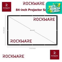 ROCKWARE 84-inch Soft Fabric Portable Foldable Projection Screen