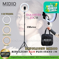 Ring Light Midio RL30 Plus Stand Ringlight Bicolour Untuk MUA Vlog
