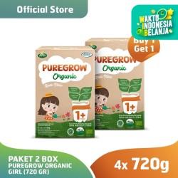 (Buy 1 Get 1) Paket 2 Box PUREGROW Organic - Susu 1-3 thn 720gr Girl