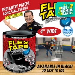 """Flex Tape 4"""" x 1,5 m isolasi Lakban ajaib Waterproof As Seen on TV"""