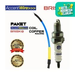 Paket Busi BRISK COPPER Type AR12C Dengan ACCENT WIRE