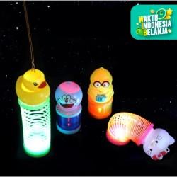 Mainan lantern lampion spring per kartun anak, lampion lampu lucu anak