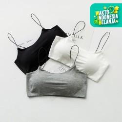 B 028 - BRALETTE sport wanita dalaman sexy fashion underwear - BLACK
