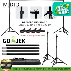 Portable Background Stand Midio 3M untuk Background Studio Foto