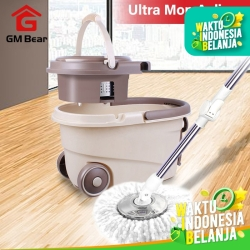GM Bear Spin Mop Cokelat 1026-Ultra Mop Aclima Brown