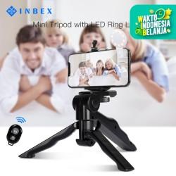 INBEX MIni Tripod+Remote Shutter+Holder U/18CM Tripod Kamera Ponsel