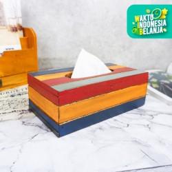 Karame | tempat kotak tissue vintage kayu unik hiasan dekor interior