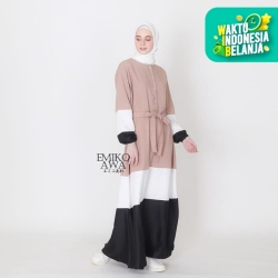 Baju Gamis Belanie - Emikoawa Dress Muslim Wanita Maxy BUSUI Jepang - COKSU