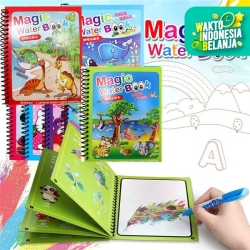 CMS009 MAGIC WATER BOOK Pulpen Tinta Air Buku Gambar Air Ajaib Anak