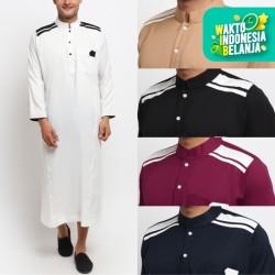 KAYSER CORDOVA Jubah Gamis Pakaian Gamis Pria Al Isra Busana Muslim - MAROON, XL