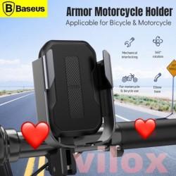 baseus armor motorcycle phone hp holder bracket mount sepeda motor