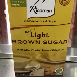 Ricoman light brown sugar 500 gram real