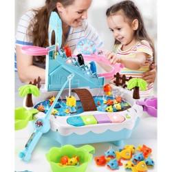 Mainan anak 3 in 1 pancingan ikan/musik piano/seluncuran penguin