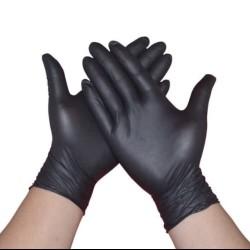 Sarung tangan karet hitam