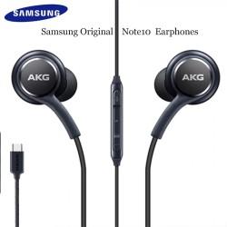 HEADSET HEANSFREE EARPHONE ORIGINAL 100% SAMSUNG AKG NOTE 10+ TYPE C