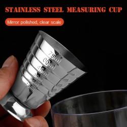 Jigger gelas ukur lengkap ml oz tbsp / gelas takar stainless 3in1