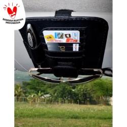 Technozio Tempat Kartu Mobil Warna Hitam /Card Holder/Tempat kaca mata
