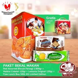 Paket 50th Khong Guan 100k (2pcs) Free Lunch Box