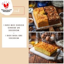 PAKET Mix Choco Cheese uk 20x20cm + Bika Ori uk 10x20cm