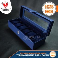 Kotak Jam Tangan Isi 6 / Box Tempat Jam / Watch Organizer - Biru Navy