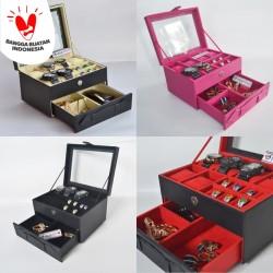 PROMO - Kotak Tempat Jam Tangan Jumbo isi 6 mix Tempat Perhiasan Susun