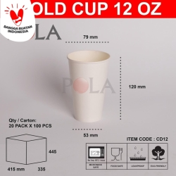 paper cold cup 12 oz / gelas kertas dingin murah 12 oz (cd12) 360ml