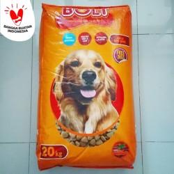 makanan anjing bolt dog beef 20kg freshpack 20 kg no canine