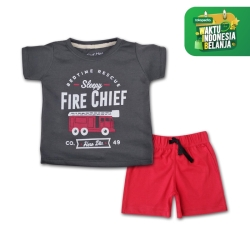 Bearhug Setelan Anak Laki-laki Fire chief cln merah XUF1 2-4T Bulan