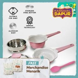 Welcook Peralatan Panci Bayi Baby Cookware-Pink