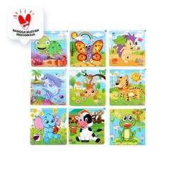 Puzzle Kayu / Jigsaw Puzzle 9 Pcs Melatih Koordinasi Anak