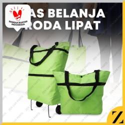 Tas Belanja Roda Lipat Troli Troly Shopping Foldable Trolley Bag Cart