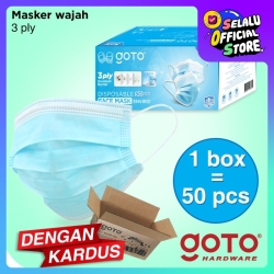 Goto Enviro 50 Pcs 3ply Facemask Masker Earloop Kesehatan