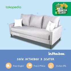 INTHEBOX Pocket Spring Sofa 3 Seater Minimalis Free 2 Bantal Sofa