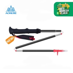 Aonijie Foldable Trekking Pole E4093 3 Sections - Trail Running Red