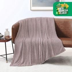 King Rabbit Thermal Blanket Selimut Fleece 150x200 cm Ziggy Maroon