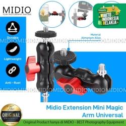 Midio Extension Mini Magic Arm Universal untuk Kamera LED Smartphone