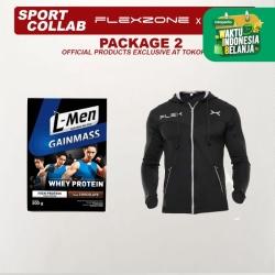 FLEXZONE x L-Men Bundling Package 2 - Gain Mass 500gr Choco x Jacket
