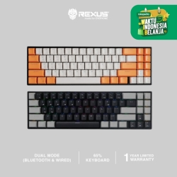 Rexus Keyboard Wireless Gaming Mechanical Daxa M71 PRO - White Orange, Yellow Switch