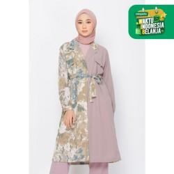 ZM Zaskia Mecca - Hyuna Brown Coat - Jelita Indonesia - Lamun Ombak - L