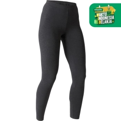 Domyos Legging Slim-Fit Pilates-Gym Wanita Abu Tua Decathlon 8511783