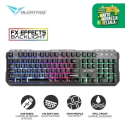 Alcatroz Gaming Keyboard XKB-300 Spill Proof with 9 Backlight Effect - XKB-300