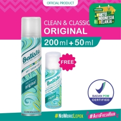 Batiste Clean & Classic Original Dry Shampoo 200ml FREE Batiste 50ml