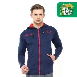 FLEXZONE Jaket - Navy - for Gym Running Jogging Sport FJS-002DK