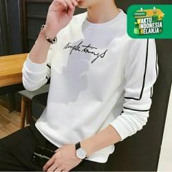 FortKlass SAIN Sweater Hoodie Unisex Lengan Panjang Pria Wanita Kupluk - Putih