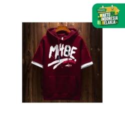 FortKlass MABE Sweater Hoodie Zipper Pria Lengan Pendek Sablon