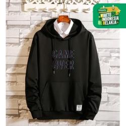 FortKlass OVER Sweater Hoodie Unisex Lengan Panjang Pria Wanita - Hitam